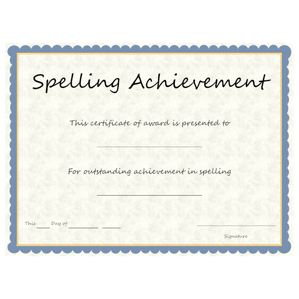 Example Image: Spelling Achievement
