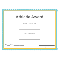 Sports - Athletic Award