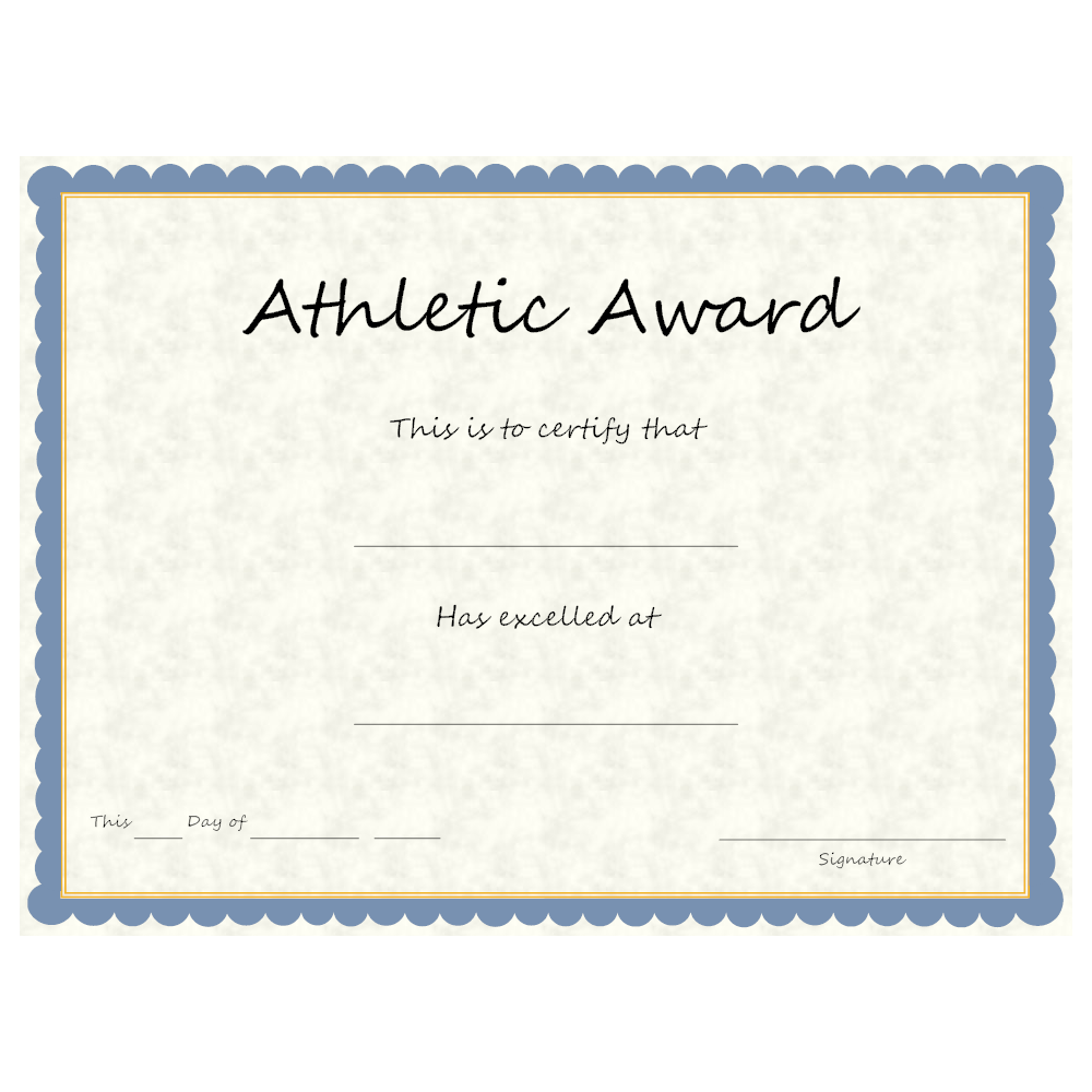 Example Image: Sports - Athletic Award