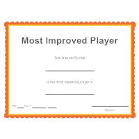 Sports - Most Improved Player