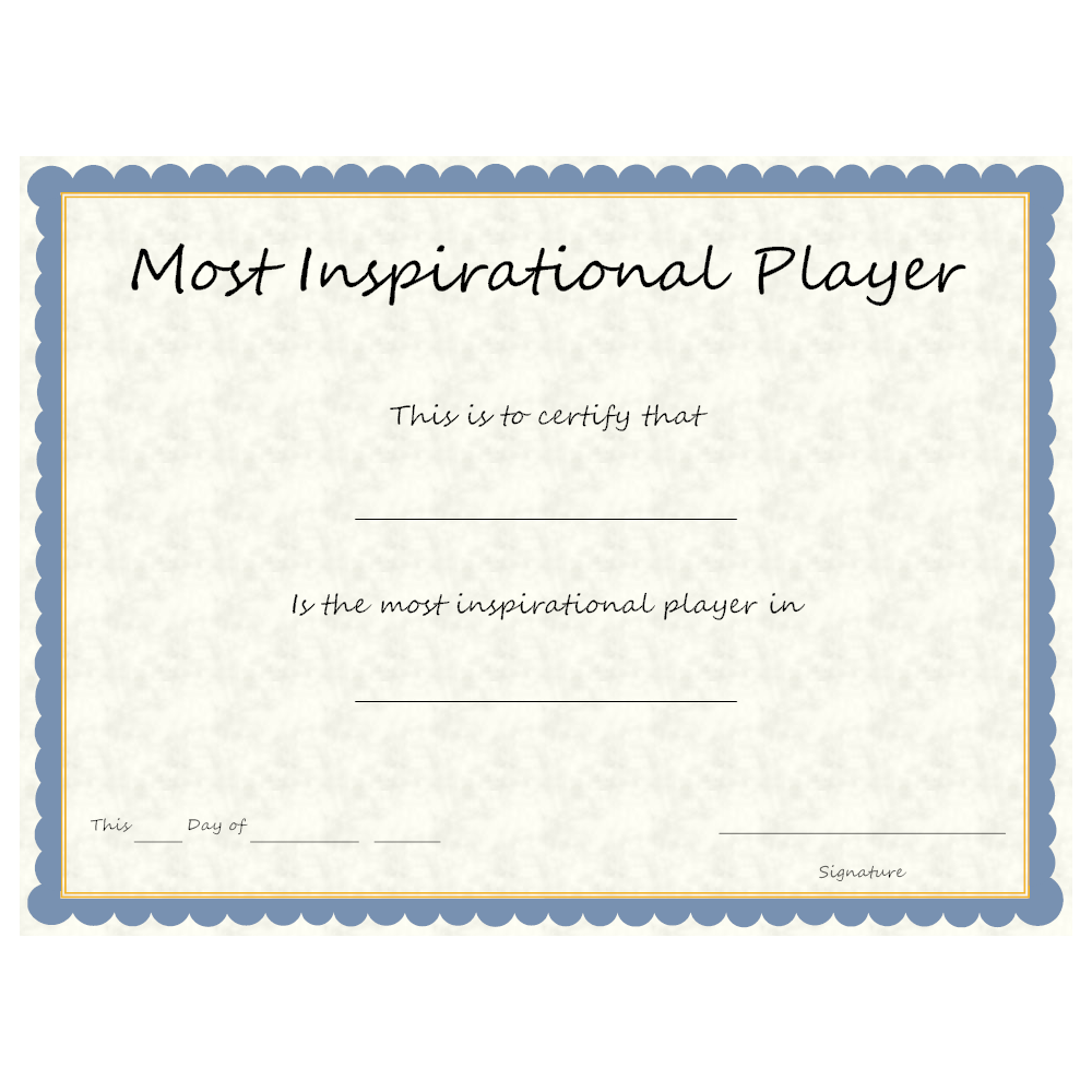 Example Image: Sports - Most Inspirational Player