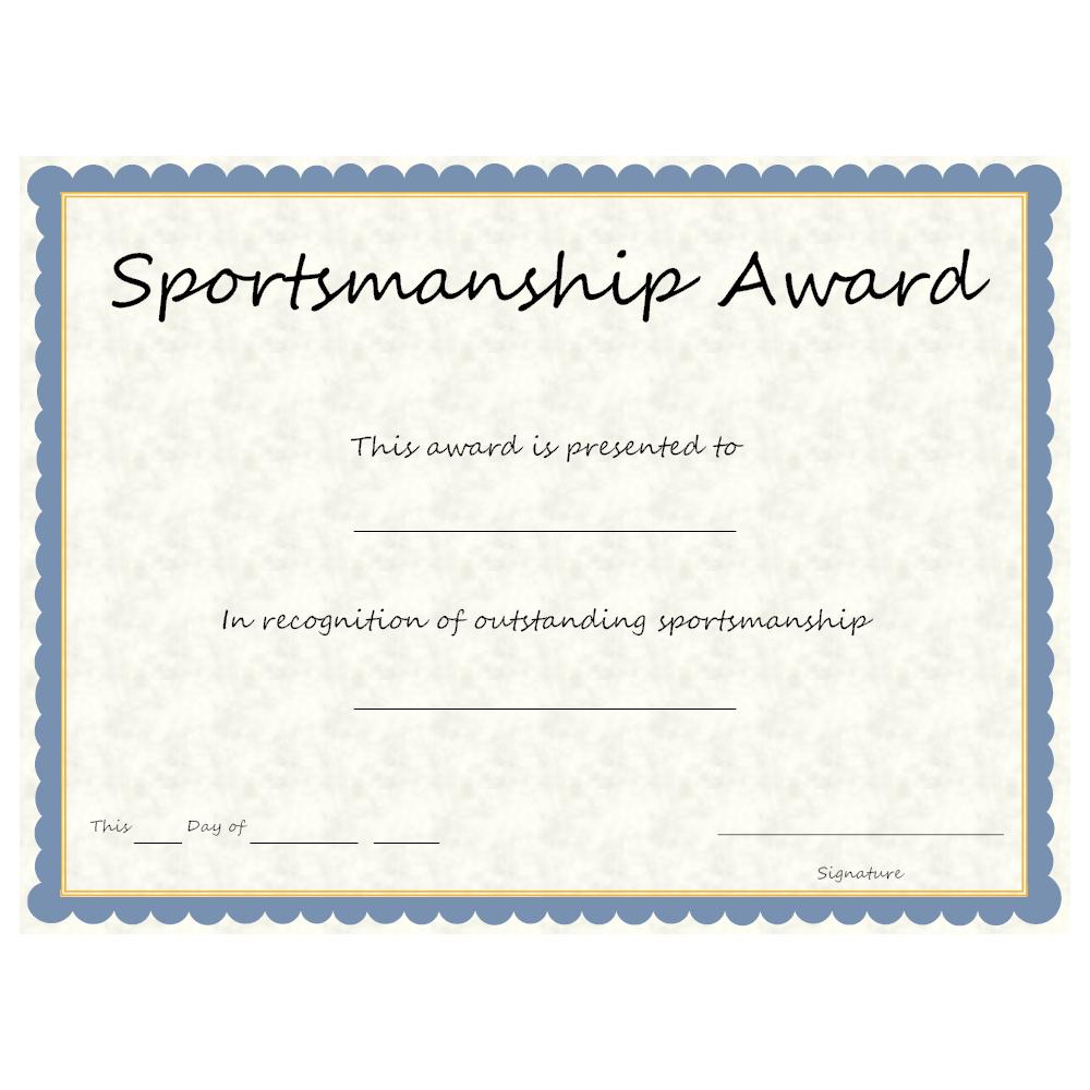 Example Image: Sports - Sportsmanship Award
