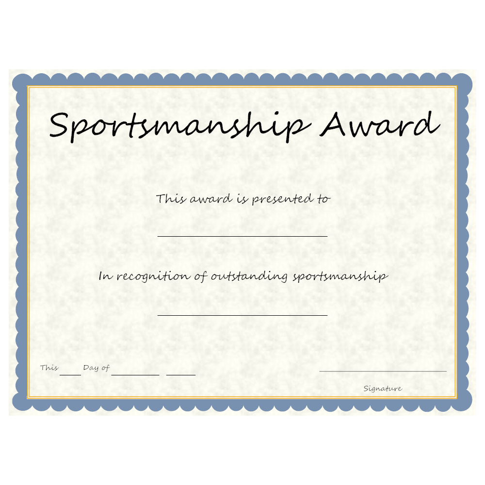 Example Image: Sports - Sportsmanship Award