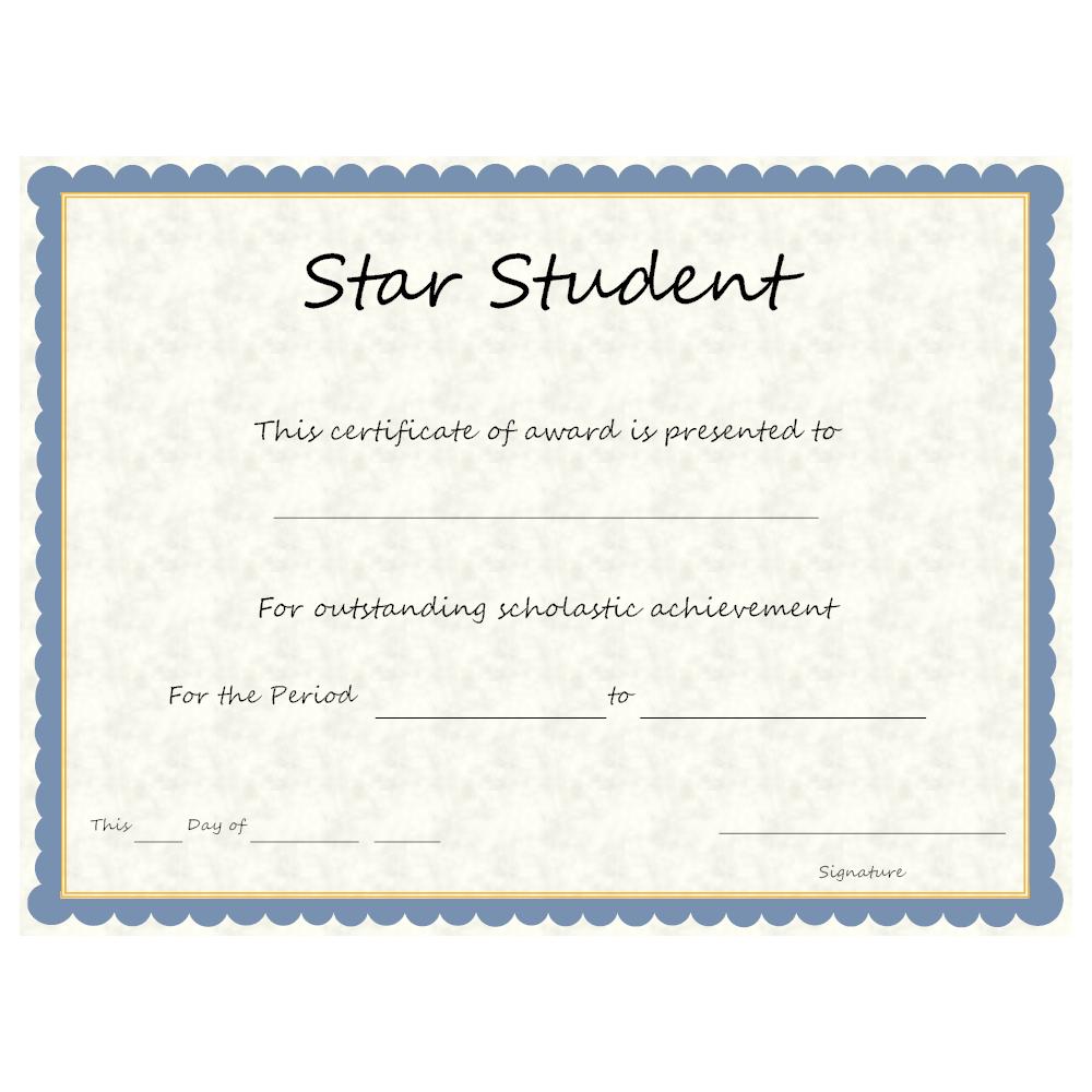 Example Image: Star Student Award
