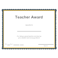 Teacher Award