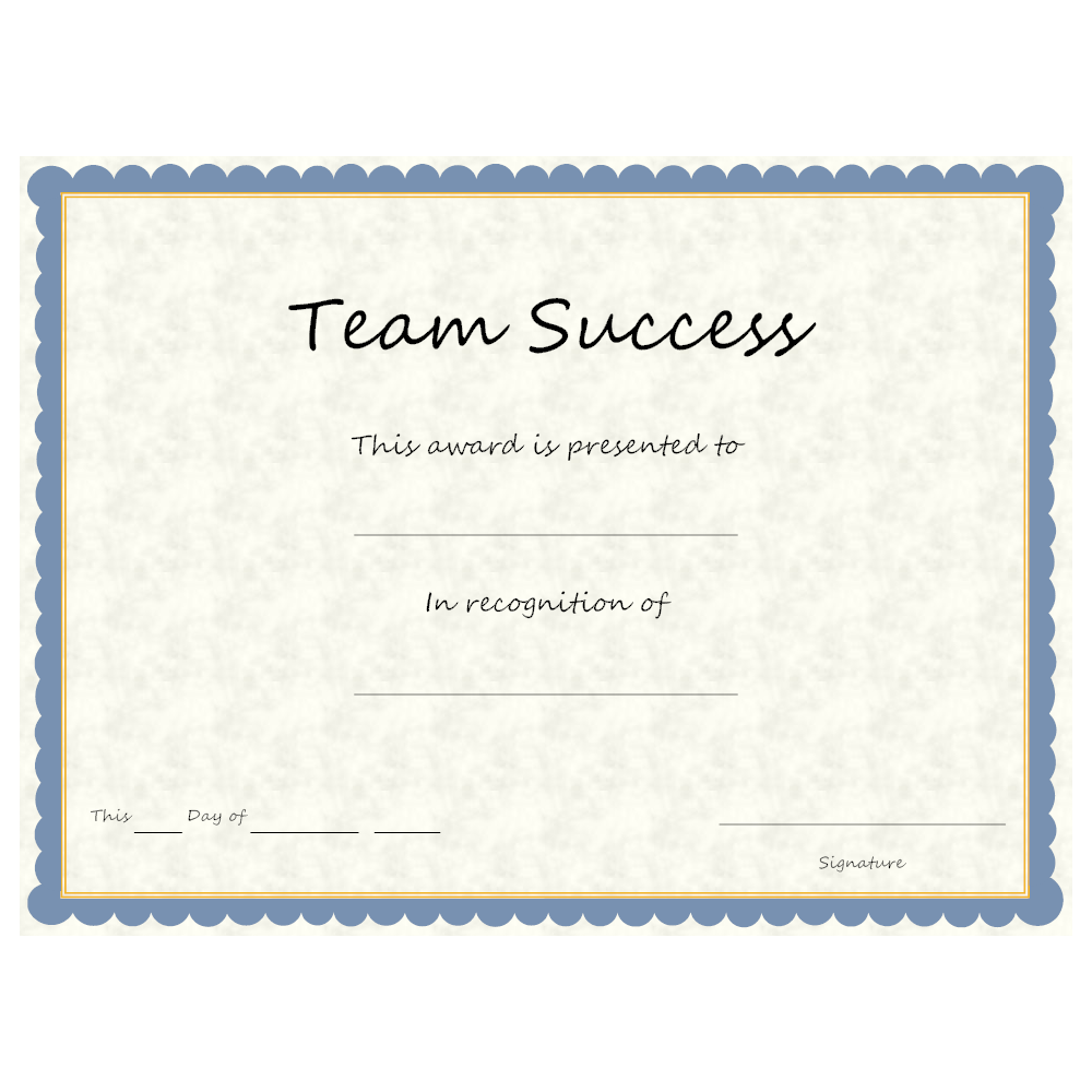 Example Image: Team Success