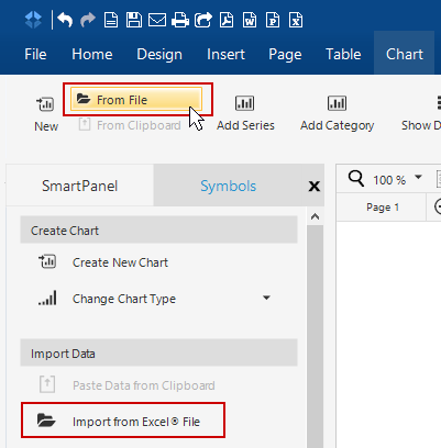 Import graph data from Excel