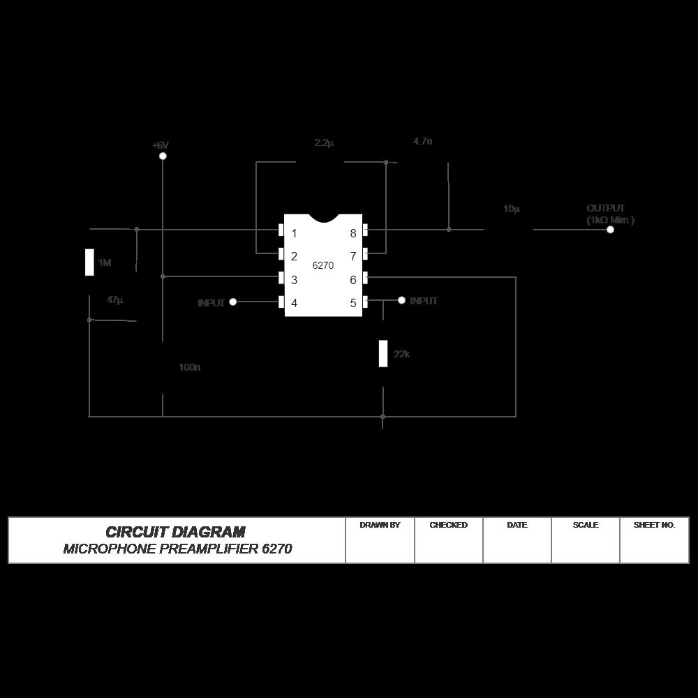 Example Image: Circuit Diagram - Microphone Pre-Amplifier