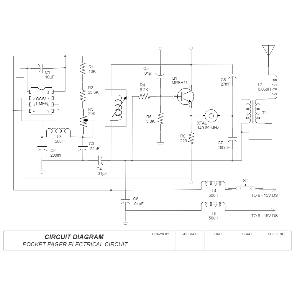 Example Image: Circuit Diagram - Pocket Pager