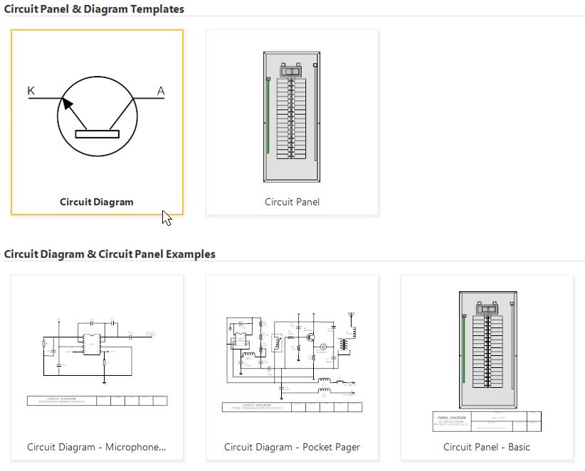 Electrical diagram templates