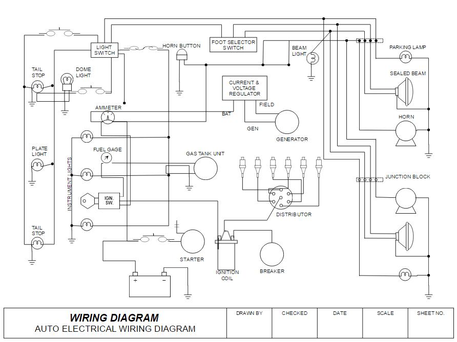 wiring diagram drawing wiring circuit diagrams wiring diagram db Windshield Washer Wiring Diagram Circuit