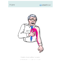 Man Suffering from  Angina
