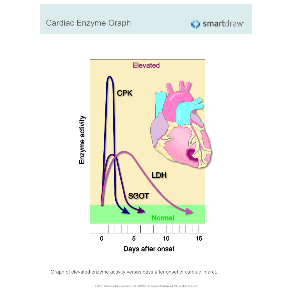 Example Image: Cardiac Enzyme Graph