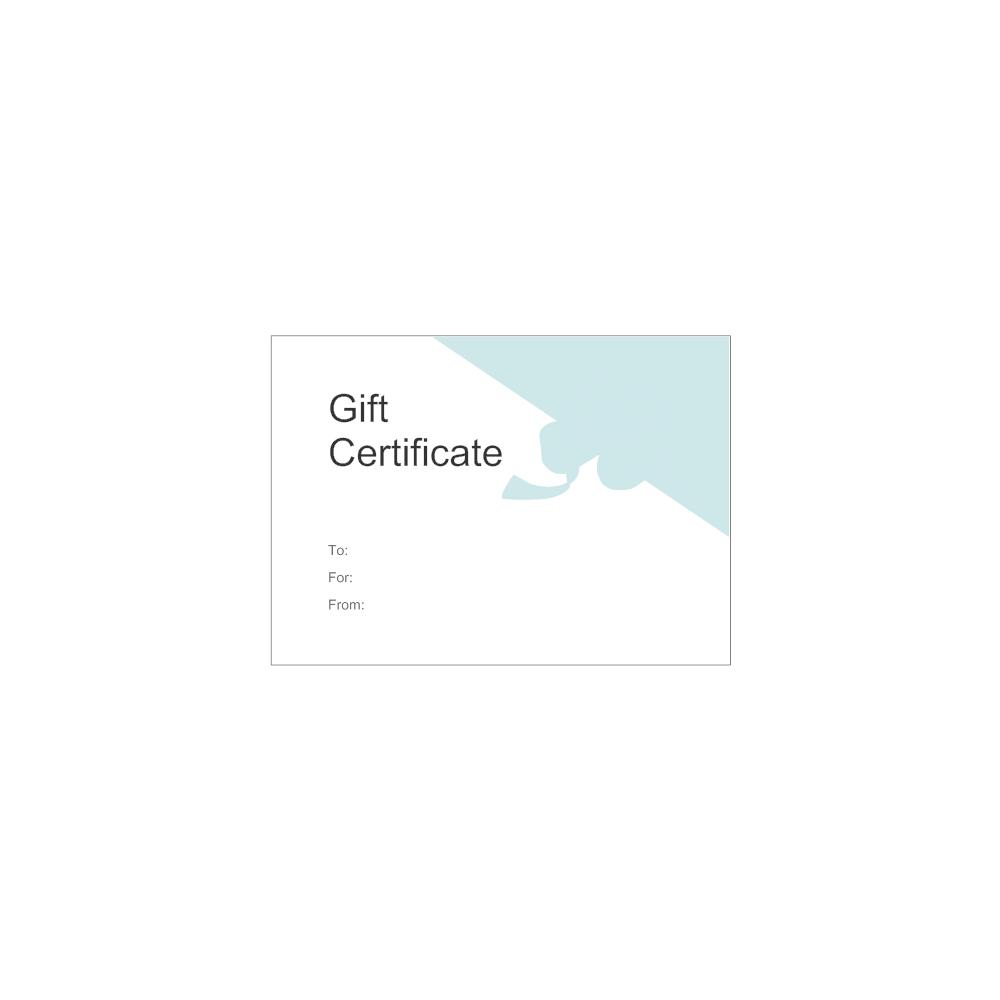 smartdraw certificate templates - gift certificate template 5