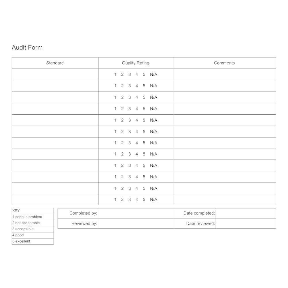 Example Image: Audit Form Example
