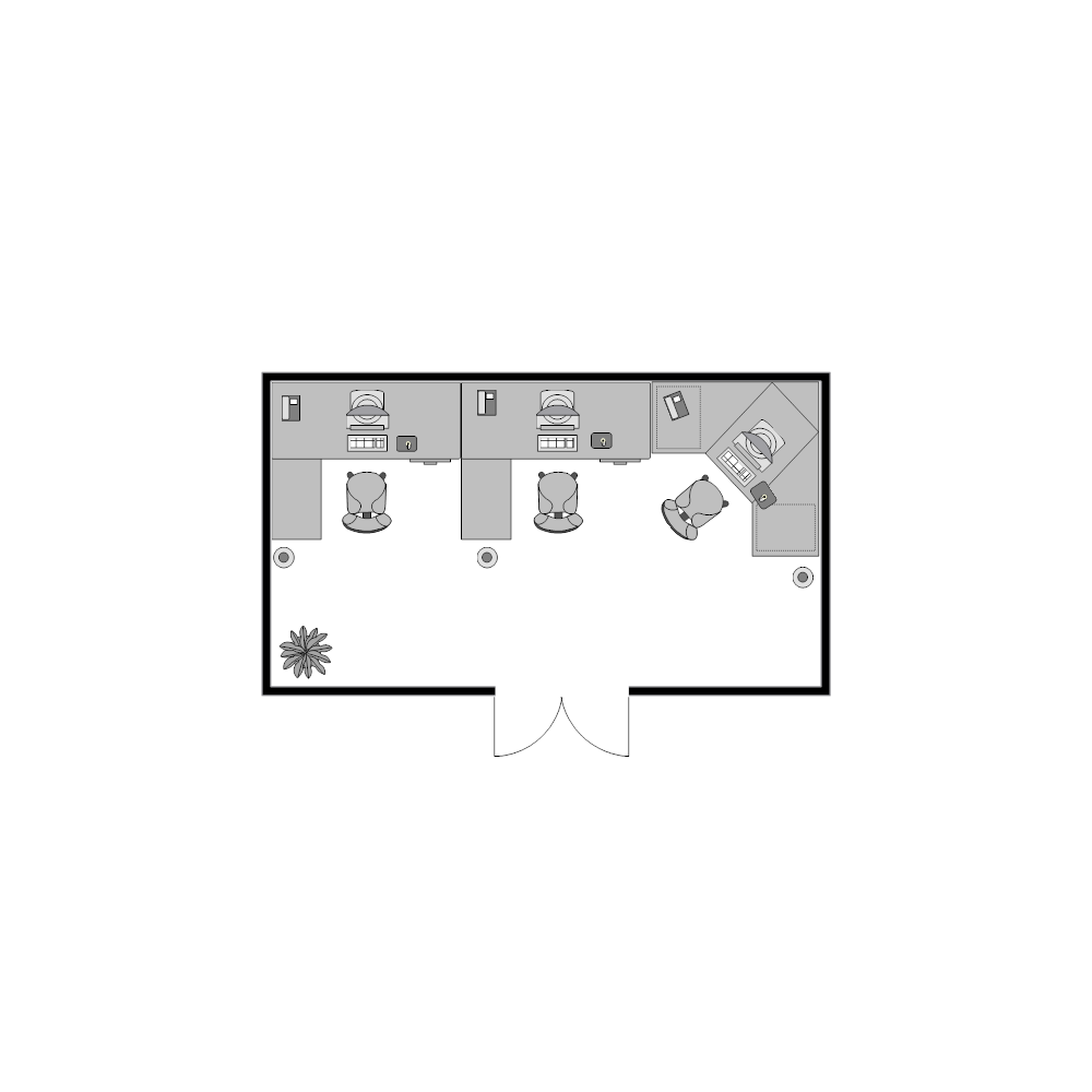Office floor plan 20x11 Edit floor plans online