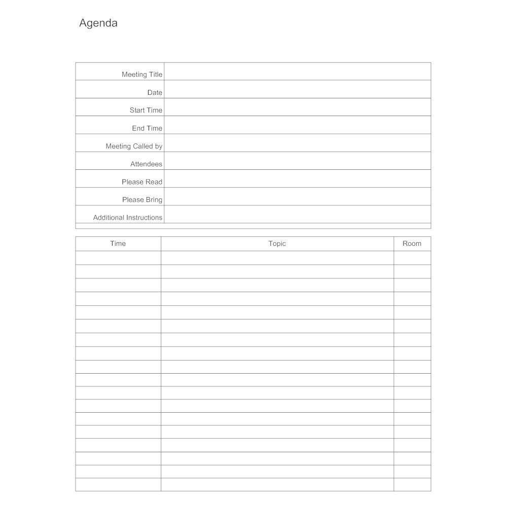 Example Image: Meeting Agenda Template