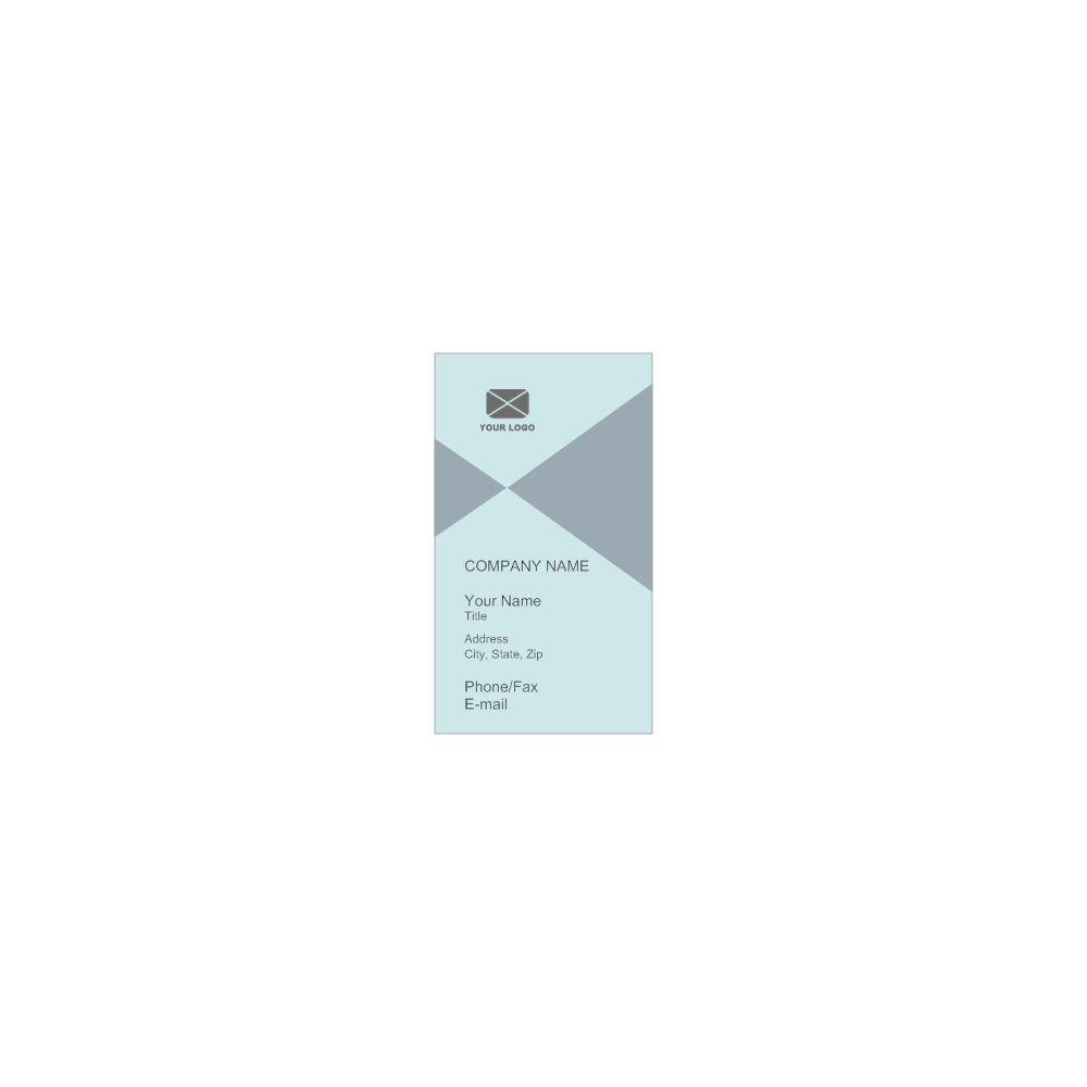 Example Image: Vertical Business Card Template