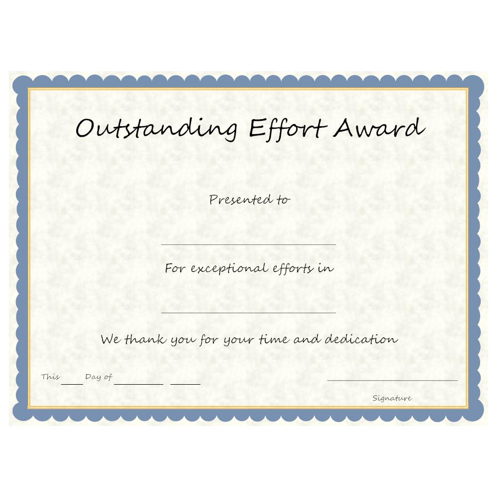 Example Image: Outstanding Effort Award