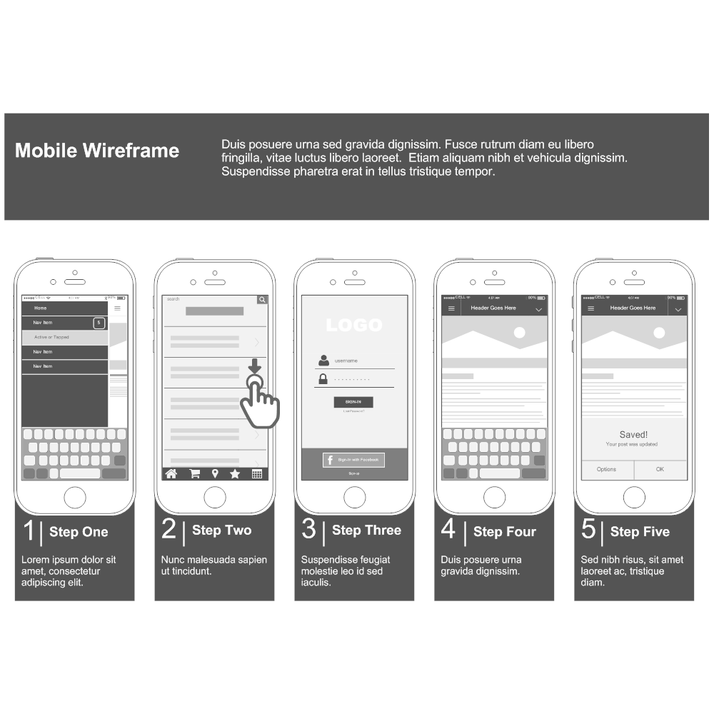 Example Image: Mobile Website Wireframe