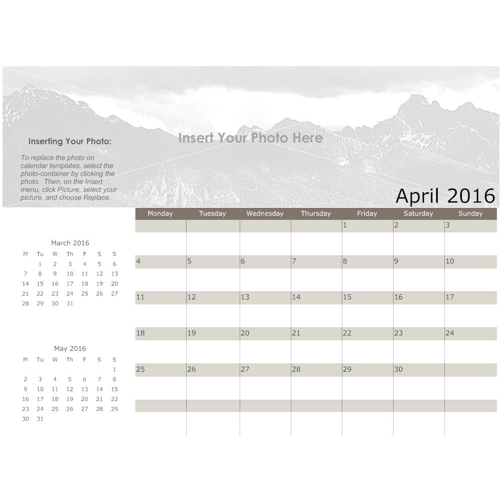 Example Image: Landscape Calendar