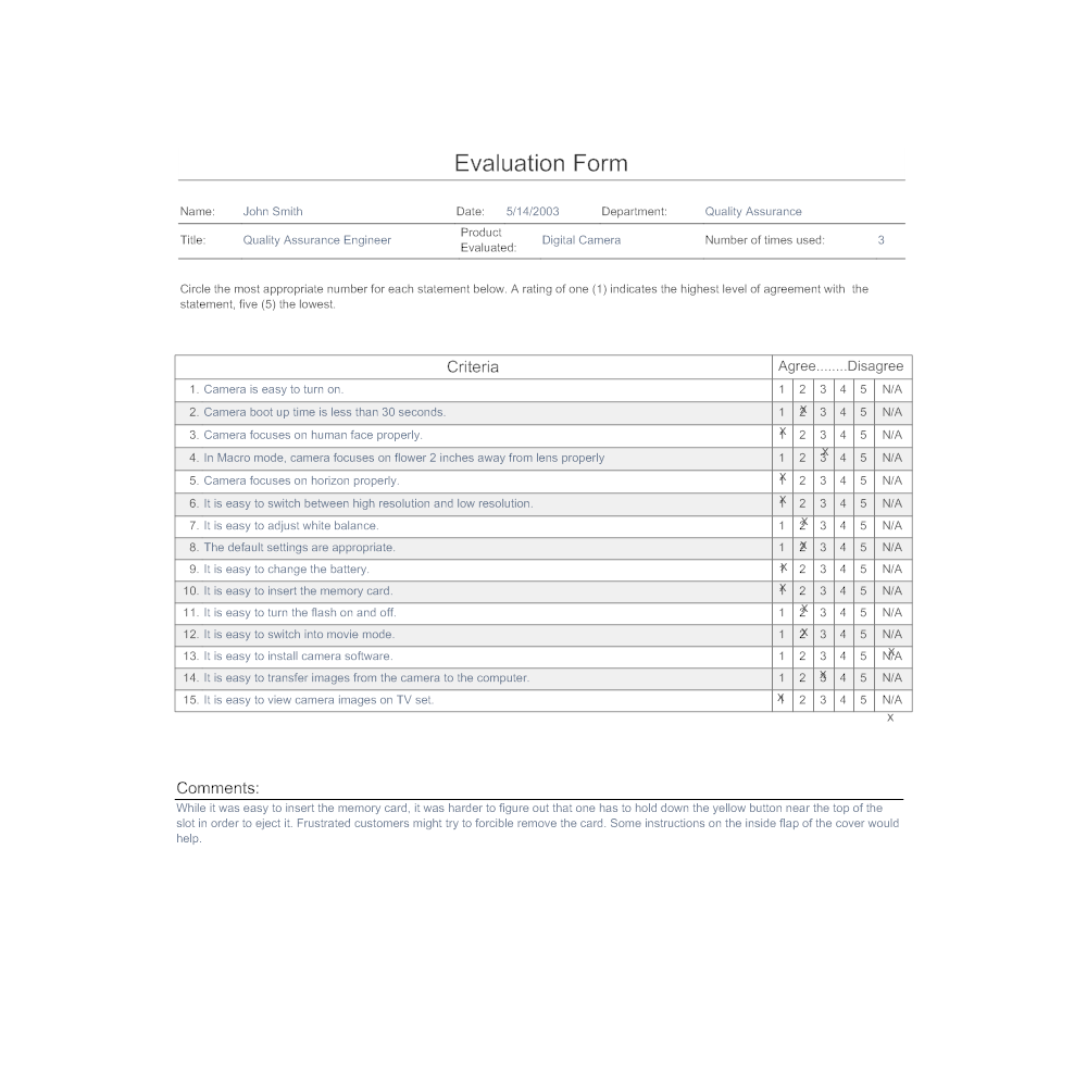 Example Image: Evaluation Form - 3