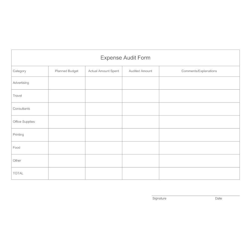 expense audit form. Black Bedroom Furniture Sets. Home Design Ideas