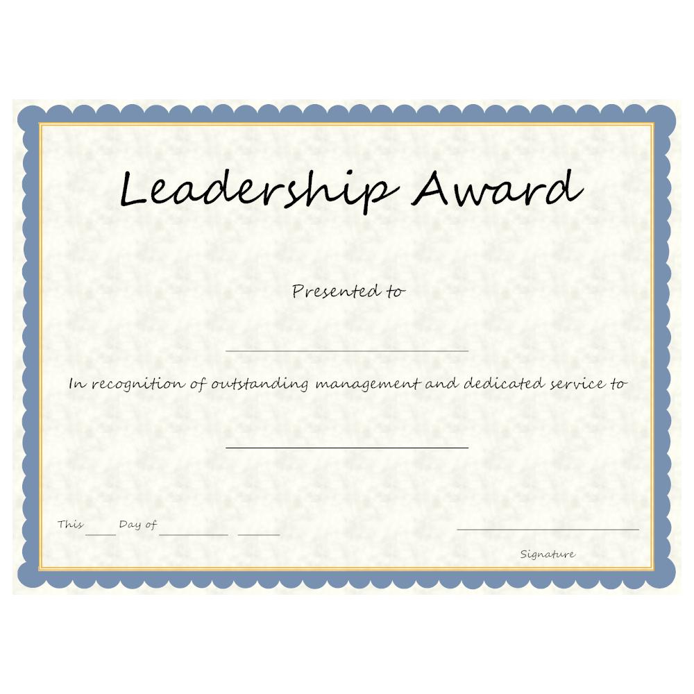 Example Image: Leadership Award