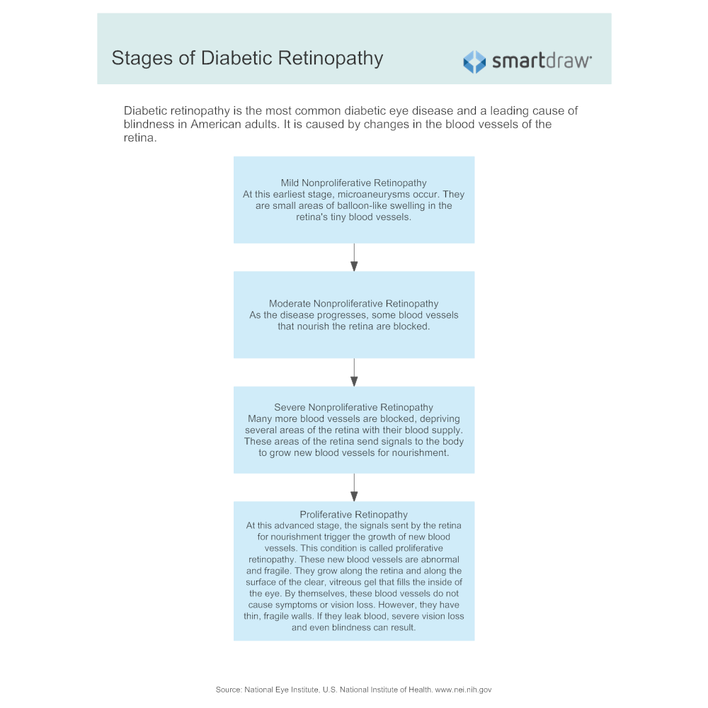 Example Image: Stages of Diabetic Retinopathy