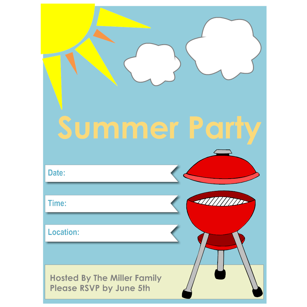 Example Image: Summer Party Flyer