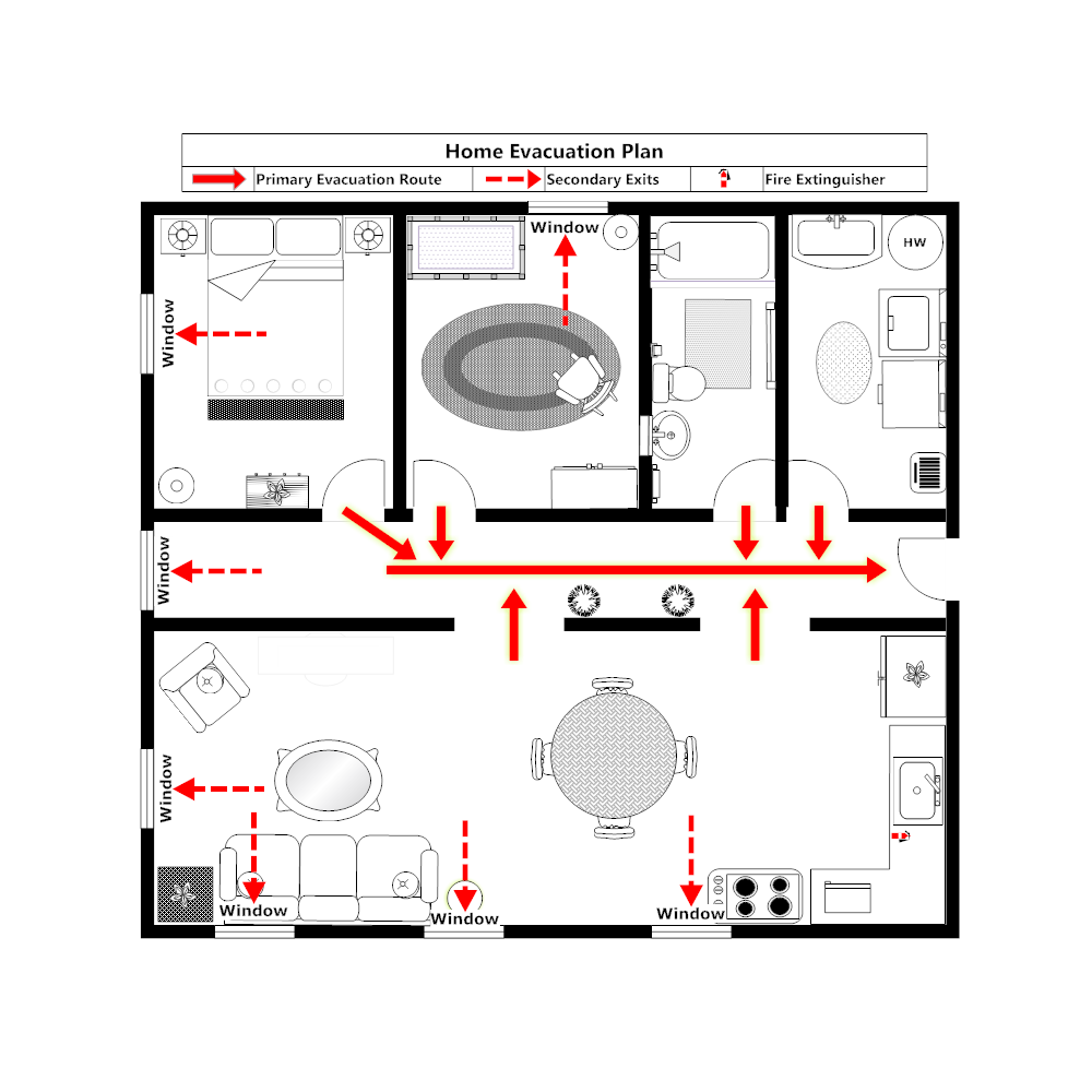 Home Evacuation Plan - 1