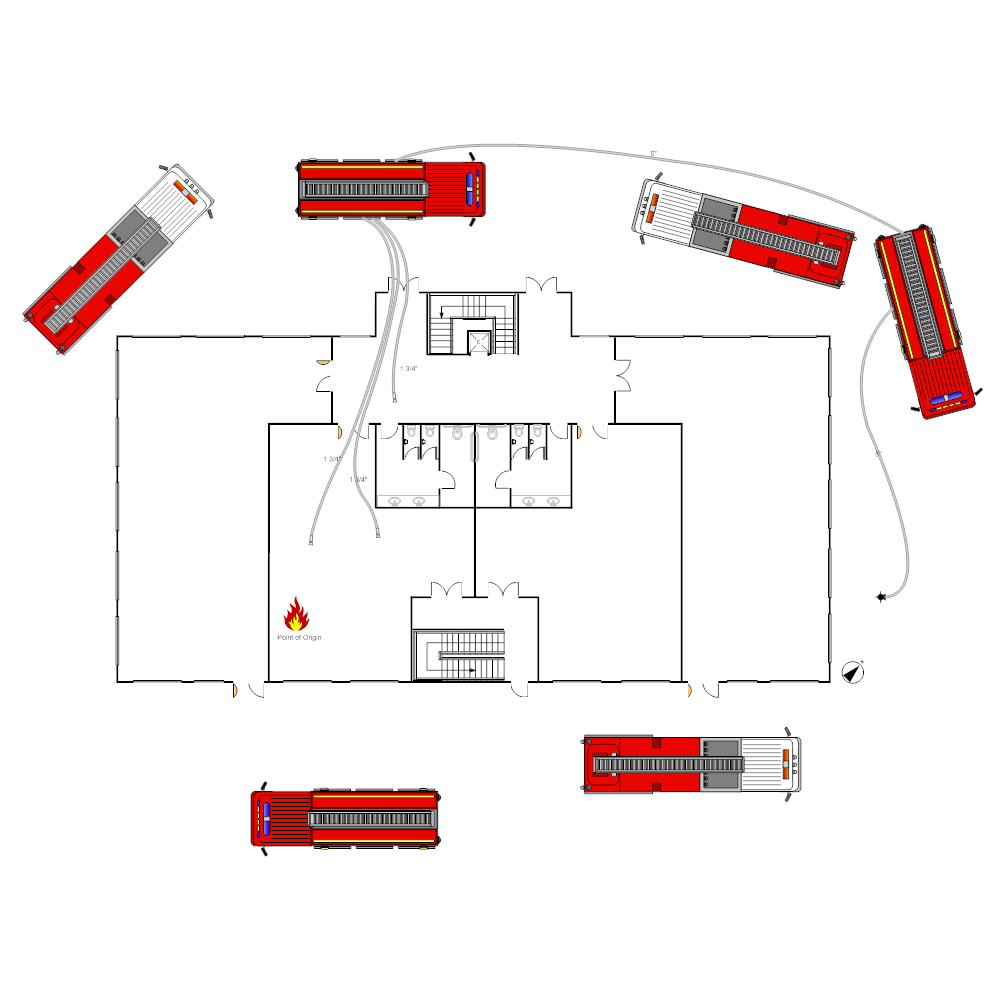 Example Image: Office Building Fire Scene