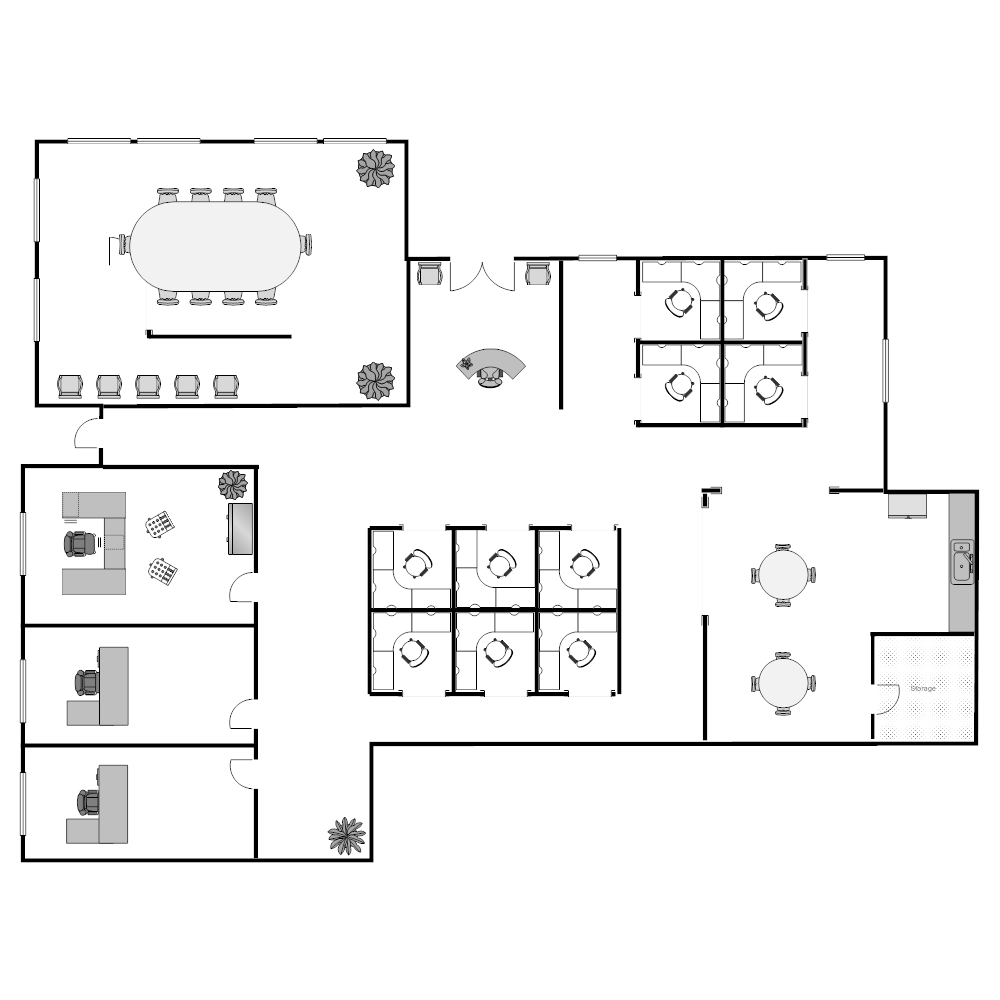 Office floor plan for Office design dwg