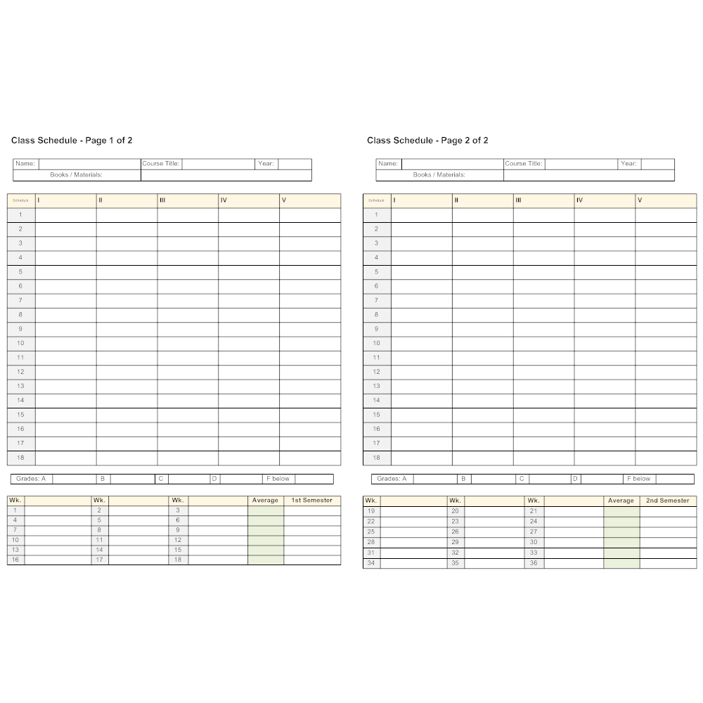 Example Image: Semester Planner