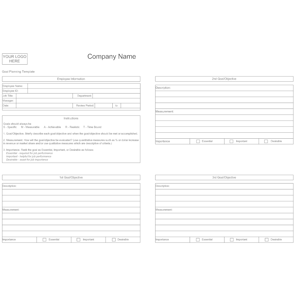 Example Image: Goal Planning Template