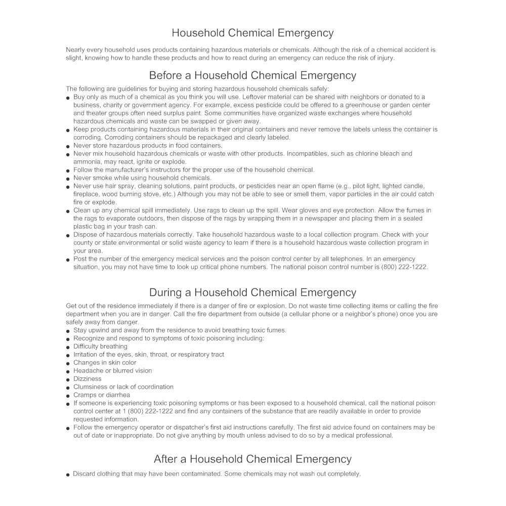 Example Image: Household Chemical Emergency