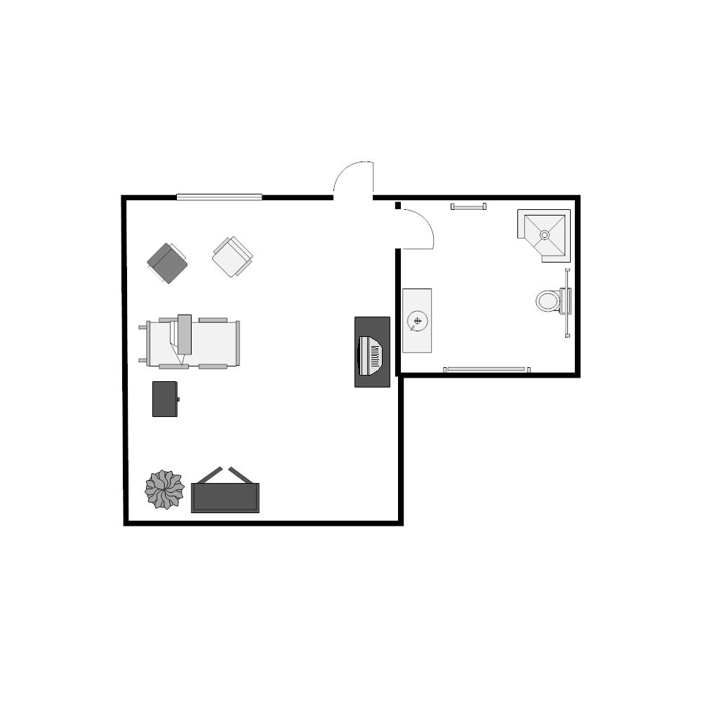 Example Image: Patient Room Floor Plan