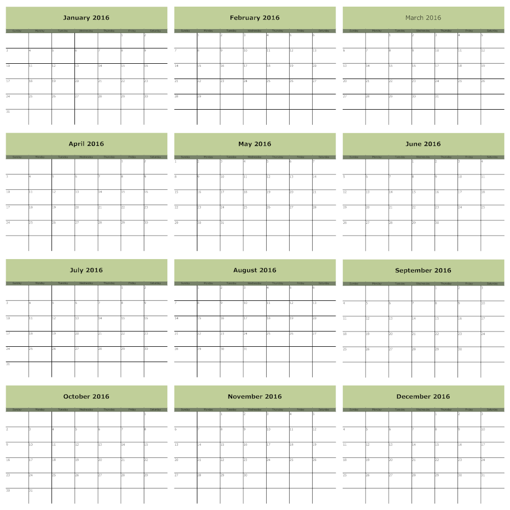 Example Image: Booklet Calendar