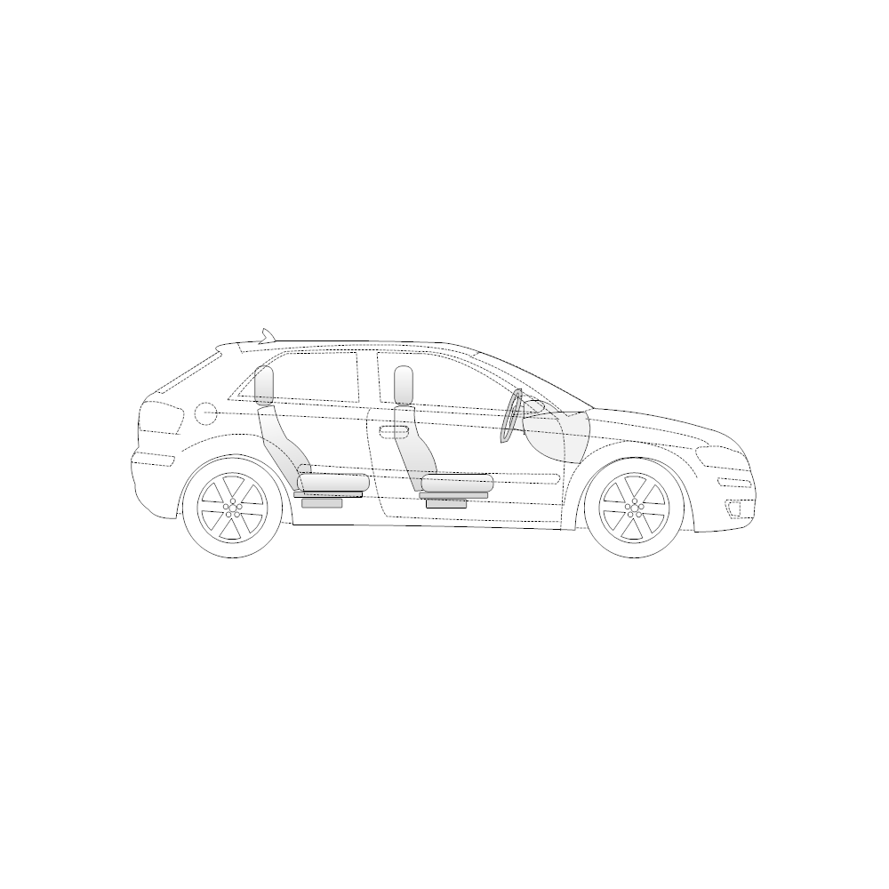Vehicle    Diagram     2Door Compact    Car    Side View