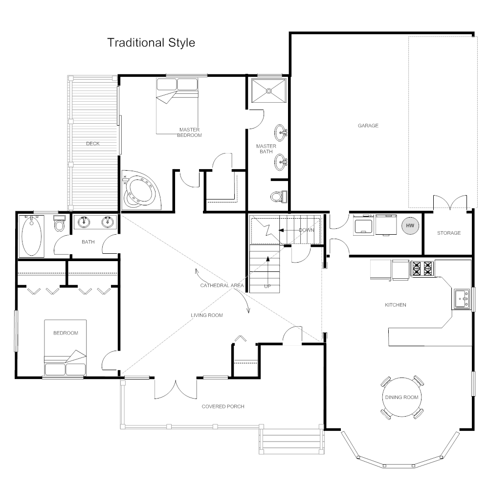 House plan traditional home for Traditional floor plans