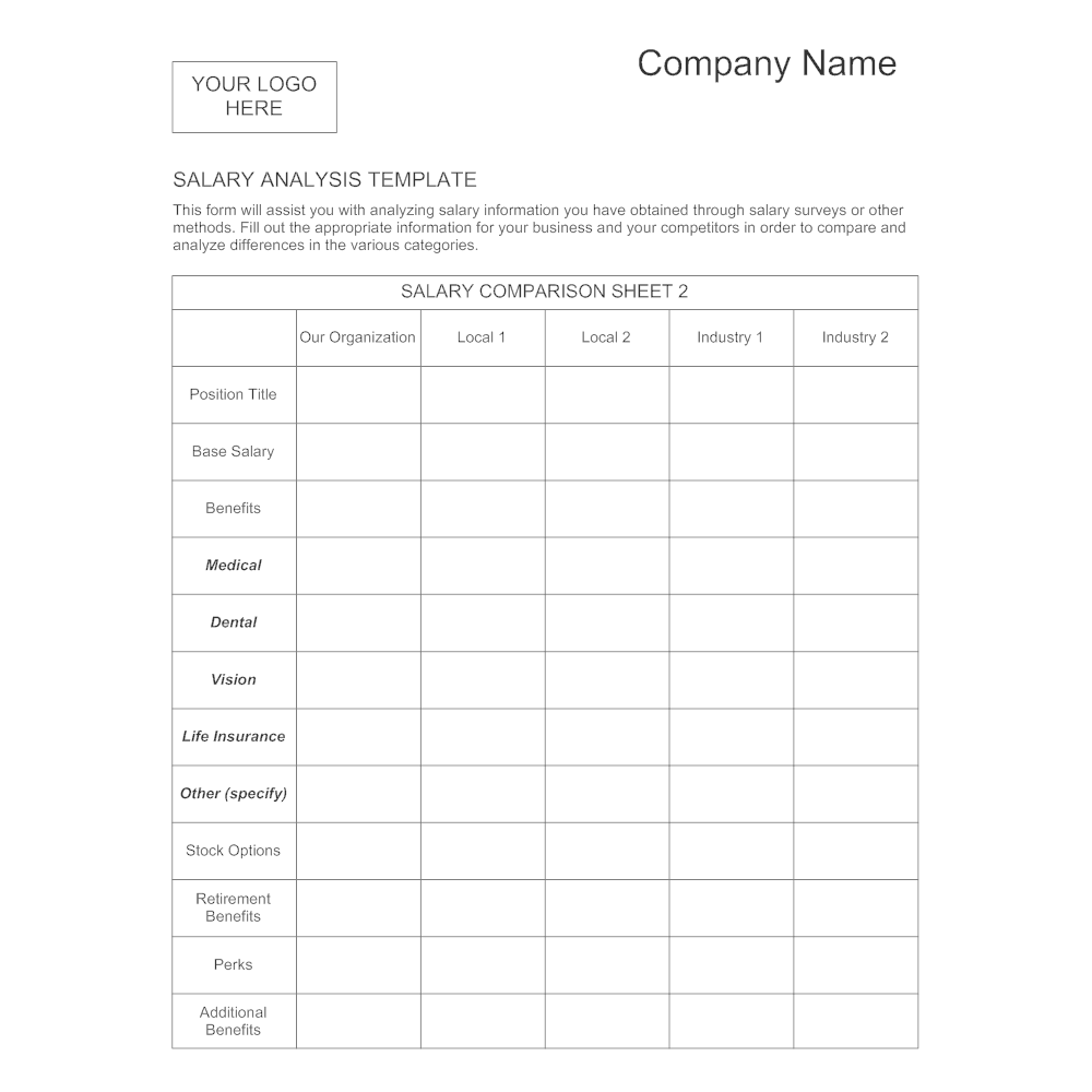 Example Image: Salary Analysis Template - 1