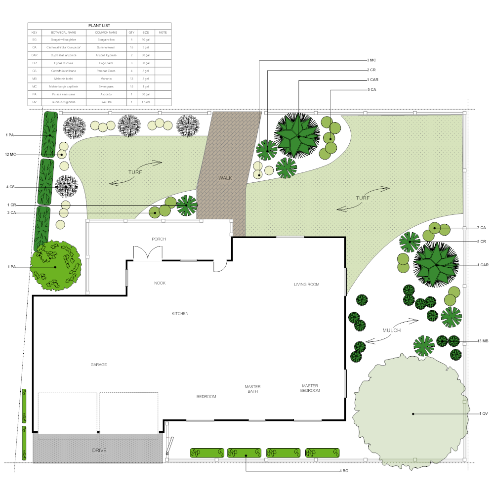 Landscape design 1 for Example of landscape drawing