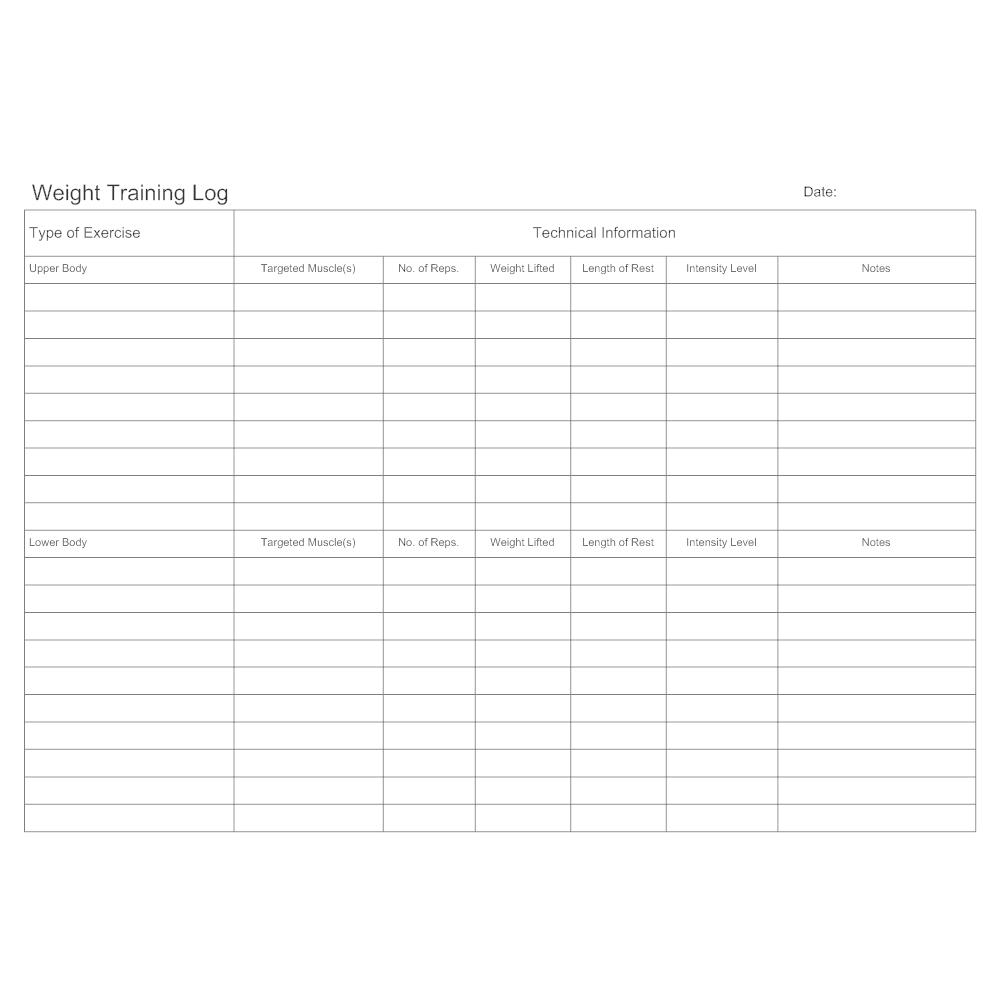 Example Image: Weight Training Log