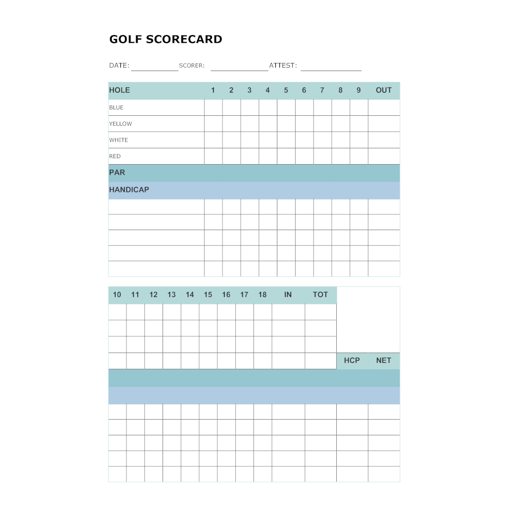 Example Image: Golf Scorecard