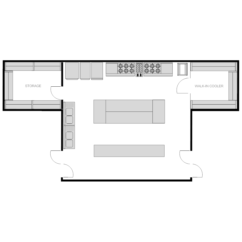 Restaurant kitchen plan Edit floor plans online