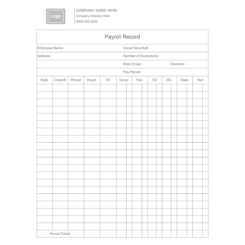 Example Image: Payroll Record