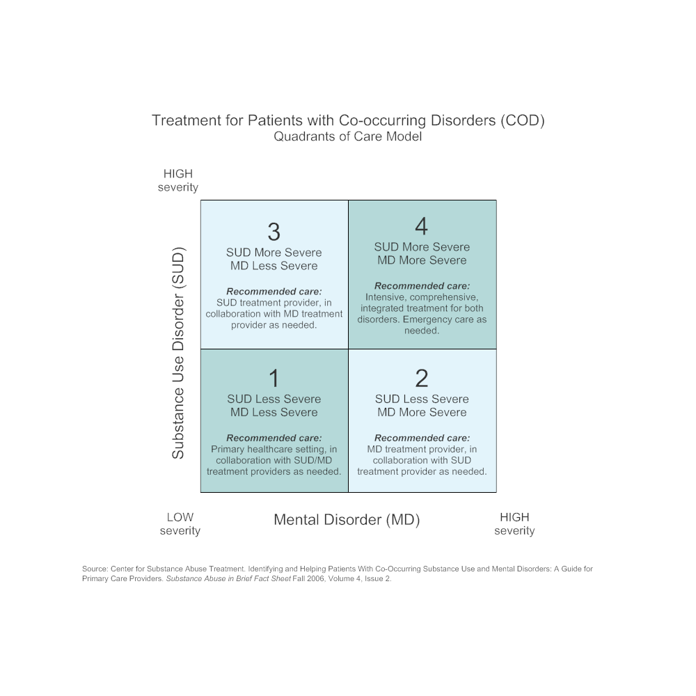 Example Image: Treatment for COD Patients - Quadrants of Care Model