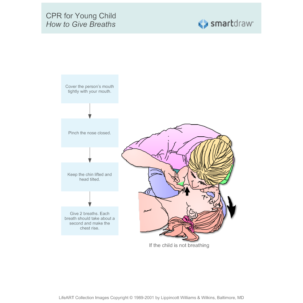 Example Image: CPR for Young Child 2 - How to Give Breaths