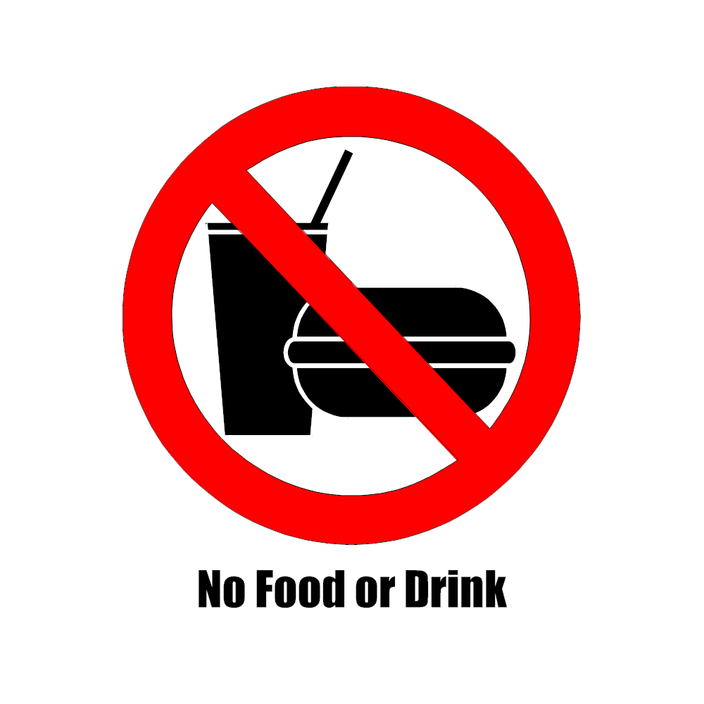 Example Image: No Food or Drink Sign