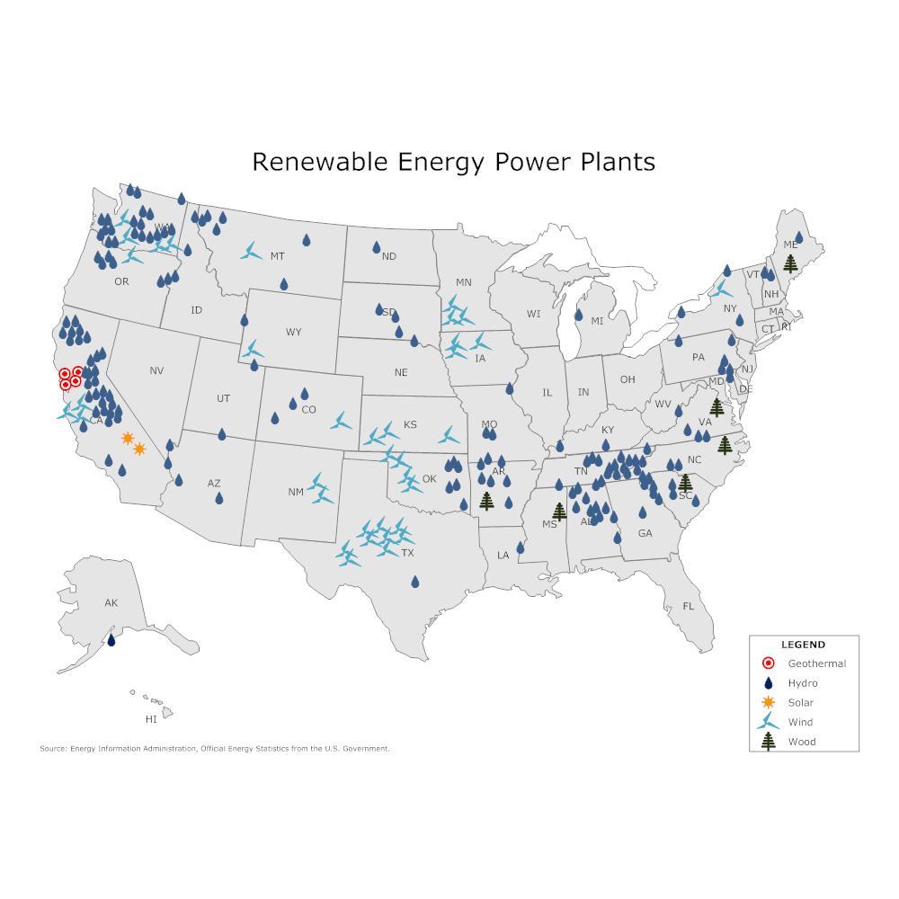 Example Image: Renewable Energy Power Plant Map